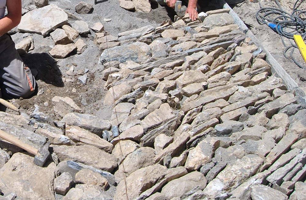 Le pavimentazioni in pietra   valle dell'eco